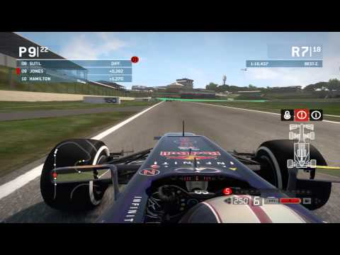 F1 2013 Gameplay -red bull racing Sao Paulo Brazil
