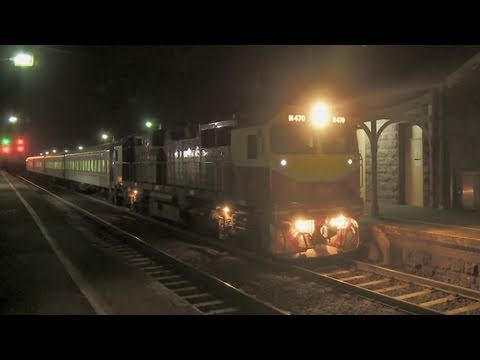 "Vline ""N class"" passenger trains at night - Railroads and Trains in Australia"