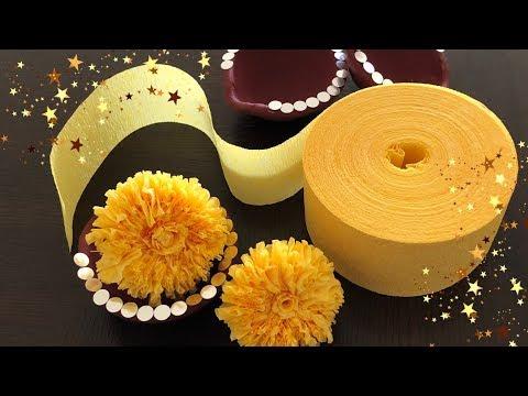 Colorful DIY Diwali Decoration Ideas | crepe streamer marigold