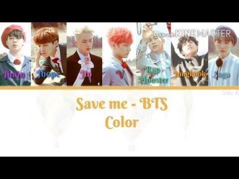 Bangtan boys/BTS [방탄소년단] - Save me [Karaoke ver.] Color Coded Lyrics [Instrumental with background]