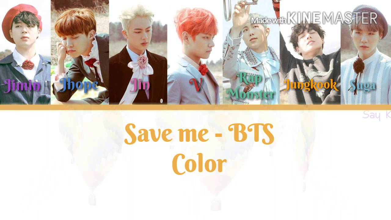 Bangtan Boys Bts  Eb B0 A9 Ed 83 84 Ec 86 8c Eb 85 84 Eb 8b A8 Save Me Karaoke Ver Color Coded Lyrics Instrumental With Background Youtube