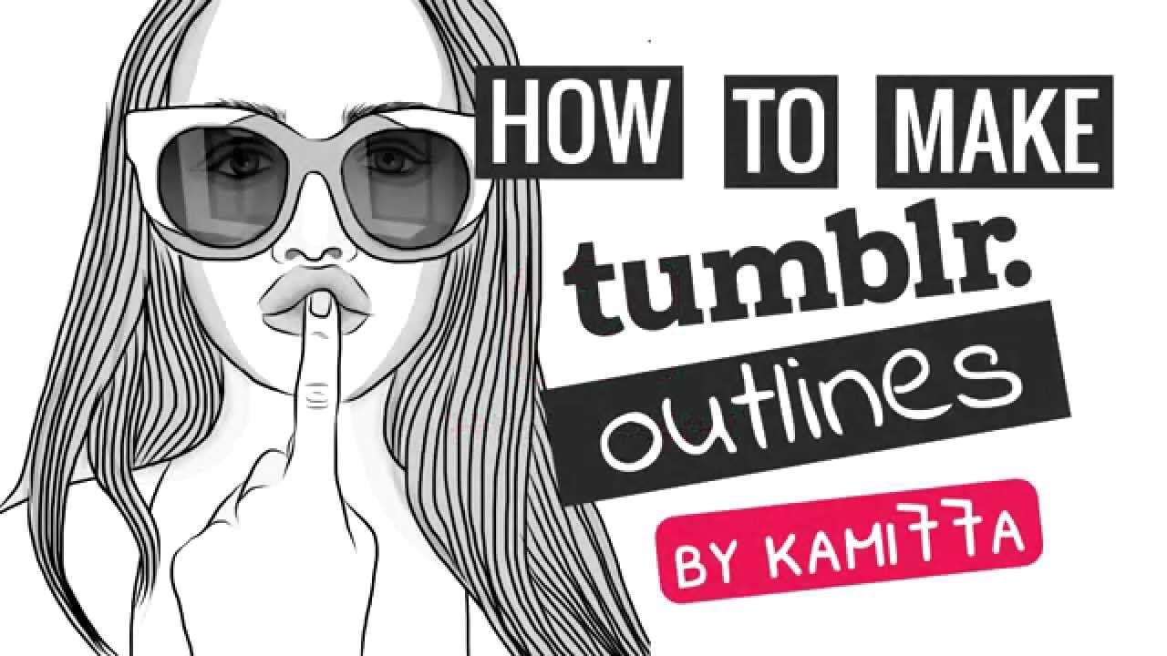 How to make tumblr outlines on ipad iphone in adobe draw joanna kuchta youtube