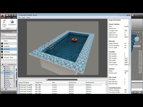 AutoCAD Swimming Pool Water Effect
