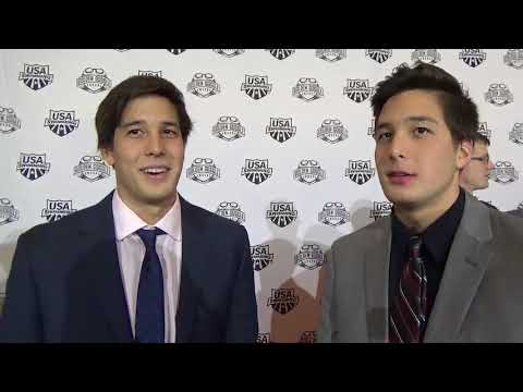 Jay and Kevin Litherland on the Golden Goggles red carpet
