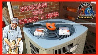 SpeedClean CoilShot Condenser Coil Cleaner and Wand in Action