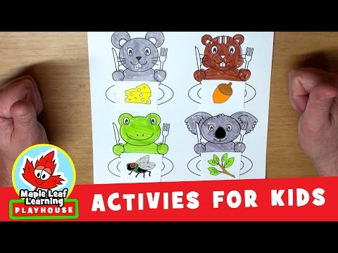 Feed the Animals #2 Activity for Kids | Maple Leaf Learning Playhouse