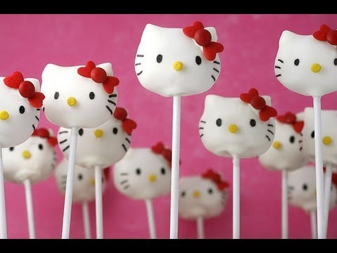 How to Hello Kitty Cake Pops YouTube