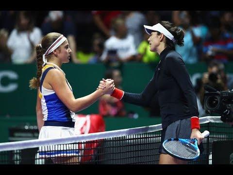 2017 WTA Finals Singapore | Garbiñe Muguruza vs Jelena Ostapenko | WTA Highlights