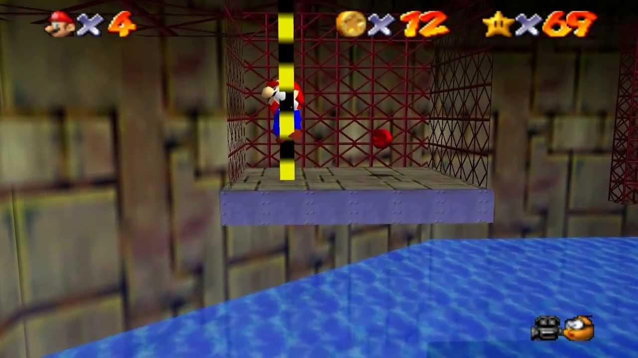 Super Mario 64 Walkthrough - Course 9 - Dire, Dire Docks