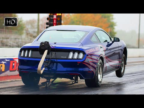 2016 Ford Mustang Cobra Jet Drag Racer with 1000HP 5.0L Supercharged Engine HD