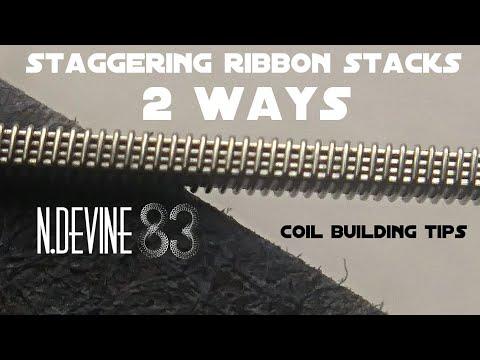 Coil building tip - staggered ribbon stacks - n.devine83