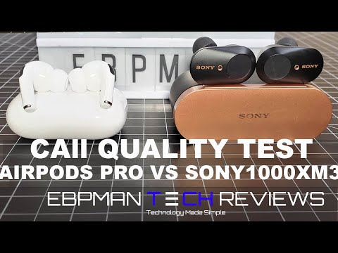 'REAL REVIEW' New AirPods Pro vs Sony WF-1000XM3 with Call Quality Test