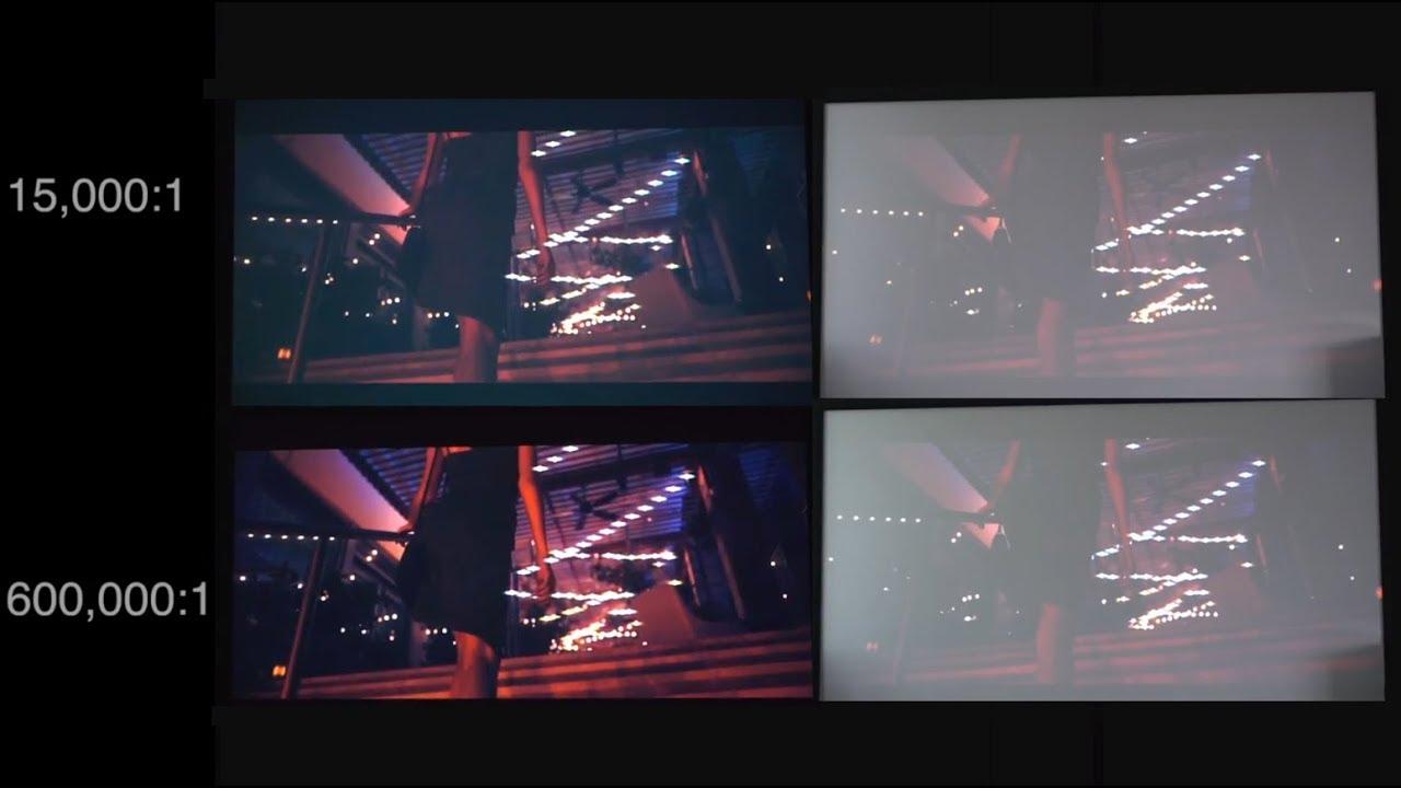 BEST Projector Contrast Ratio Demo - YouTube