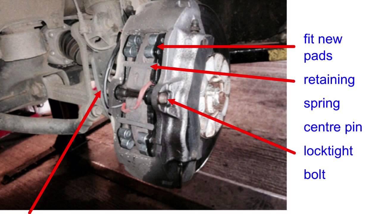 Q7 brake pads replaced by Scott Mechanics - YouTube