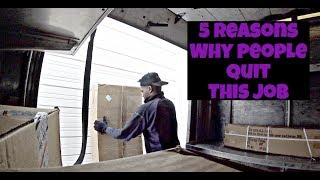 5 REASONS WHY PEOPLE QUIT THIS JOB!