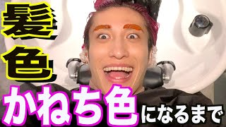 かねちのトレードマーク「ピンク髪」が出来上がるまでを大公開‼︎