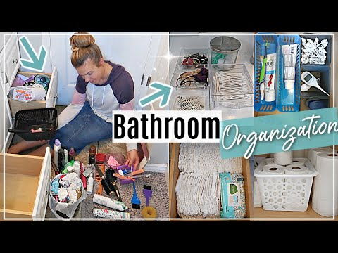 BATHROOM ORGANIZATION   EXTREME CLEAN WITH ME 2019   KONMARI DECLUTTER AND ORGANIZATION