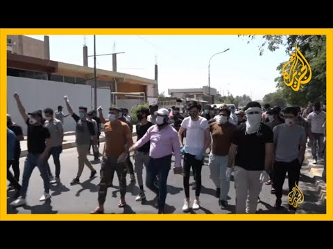 ???? ???? تنديدا برسم مسيء للسيستاني.. عراقيون يتظاهرون قرب السفارة السعودية  - 13:59-2020 / 7 / 6