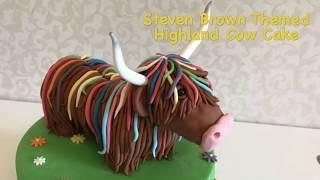Steve Brown Themed highland Cow Cake