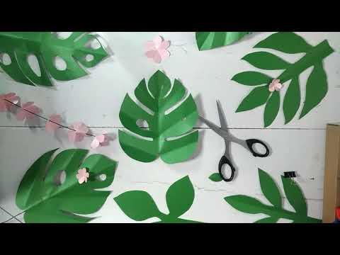 Monstera Paper Leaves Tutorial| Ide Kreatif Aesthetic Room Decor