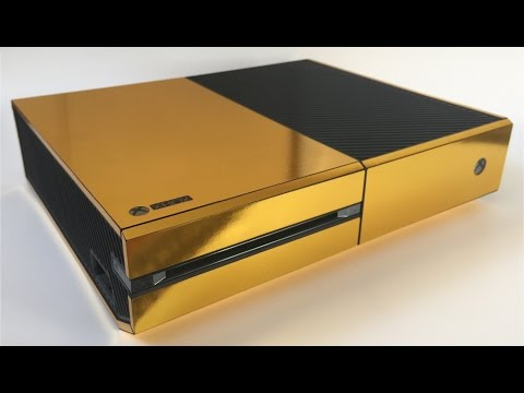 XtremeSkins Gold Xbox One Console Skin Installation and Review