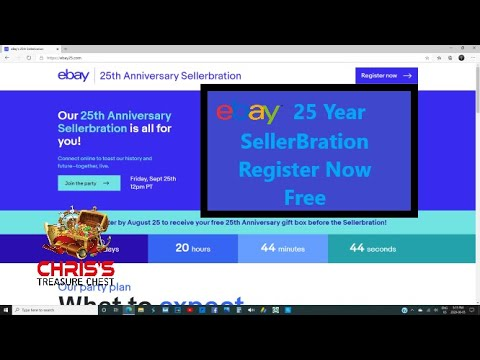 Ebay 25 Year Sellerbration Register Free Now Plus Some Thrift Store Finds Youtube