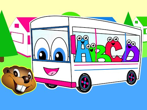 The Wheels On The Bus | White Bus Version | Toddler Songs | Children's Learning Video | Baby Song