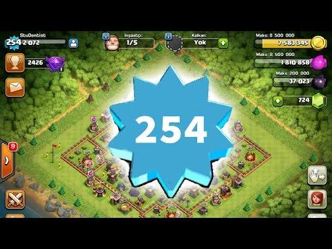 Clash of Clans - 254 Seviye Bilal'le Savaşıyoruz!