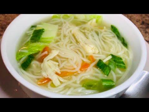 Quick & Easy:  CHICKEN MISUA SOUP Recipe
