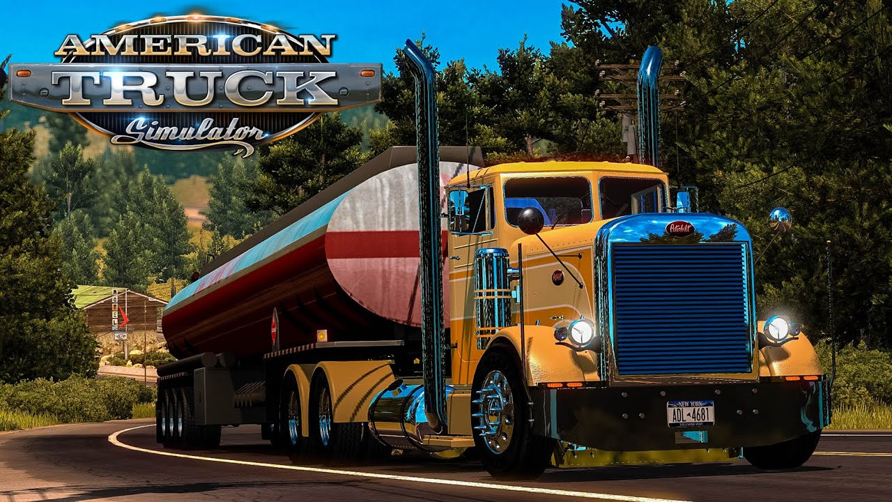 American Truck Simulator - 6000 Gallons of Diesel - Peterbilt 351 - Redding  to Truckee