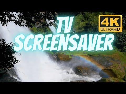 Rainbow in a Waterfall filmed in 4K by Uscenes
