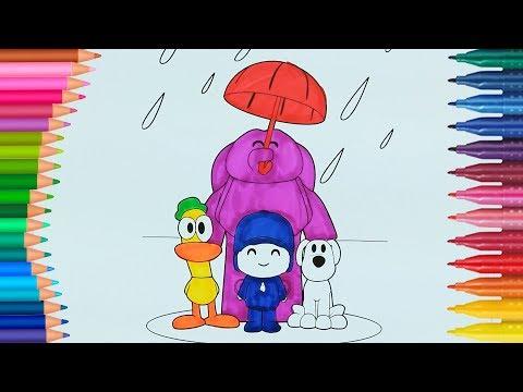 Pocoyo | Boyamalar | Boyama kitabı | Rainbow boyama videoları | Boyama Sayfası