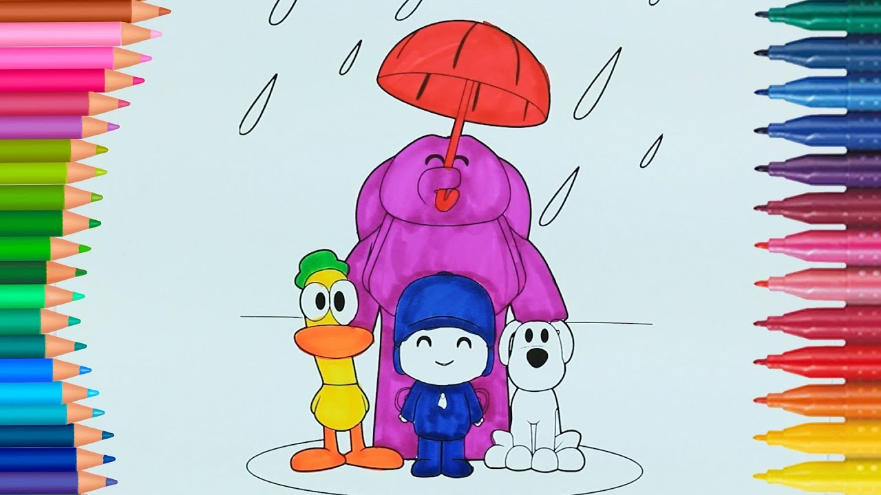 Pocoyo Boyamalar Boyama Kitabı Rainbow Boyama Videoları