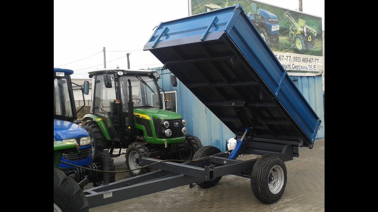 Купить прицеп тракторный одноосный 3 т самосвальный, б/у minitrak .