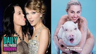 Miley Naked With A Pig - Katy Perry Dissing Taylor In 1984 Track? - Ariana Pissed At Fans? (DHR)