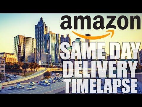Amazon Same Day Delivery Route (Timelapse) - Virginia Highland, Atlanta - 5.24.2017