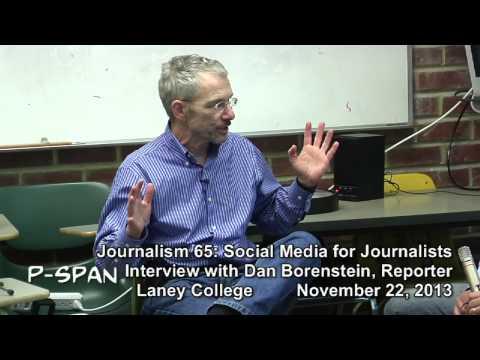 """P-SPAN #340 -- """"Journalism 65: Daniel Borenstein, Contra Costa Times"""""""