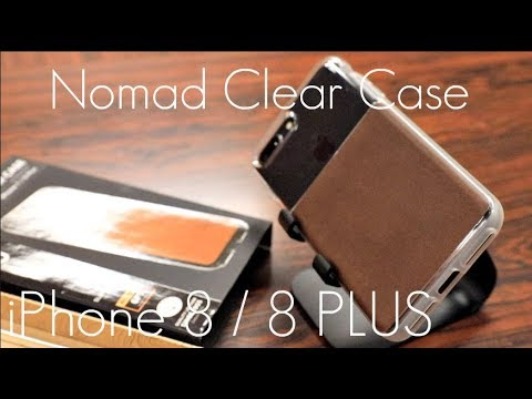 newest d3a30 ce200 Clear Leather Protection! - Nomad Clear Case - iPhone 8 / 8 PLUS