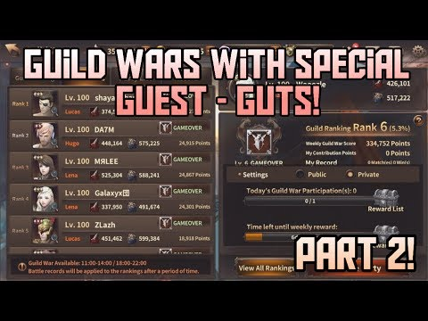 Guild Wars with Special Guest - Guts PART 2! Lena PvP GW Gameplay | HIT