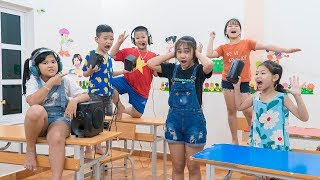 Kids Go To School | Chuns Learn With Friends Test Contest Who is Better