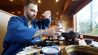 Traditional JAPANESE Breakfast + 10pm RAMEN at Onsen Hotel | Hakone, Japan