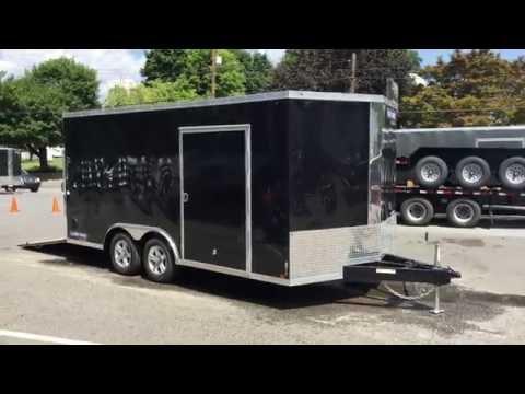 Sure Trac 8.5x16 STWCH Enclosed Car Trailer V-Nose Ramp STWCH10216TA