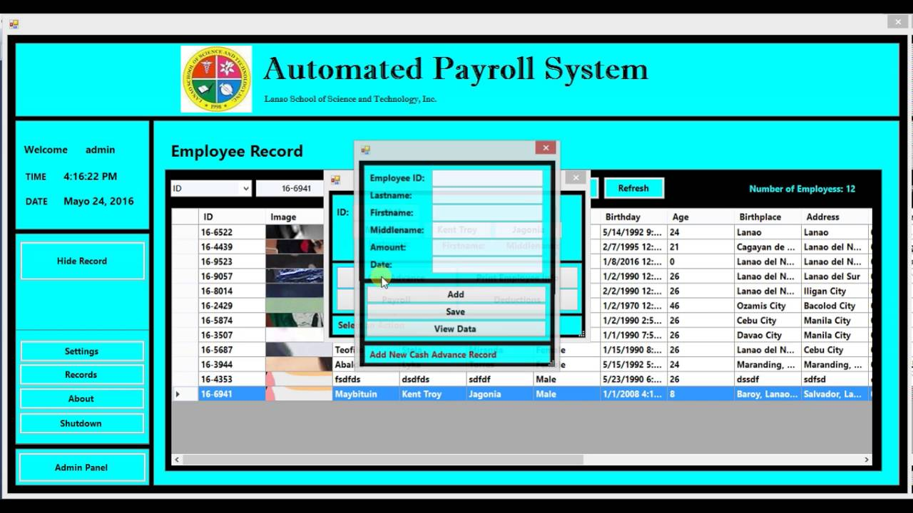 automated payroll system Of timekeeping data into a payroll system when the  an automated time and attendance system can provide both  punching in for improved workforce management.
