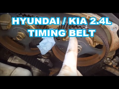 Hyundai Sonata Timing Belt Replacement 2.4L+ water pump 99-05 EASY TO THE POINT how to replace