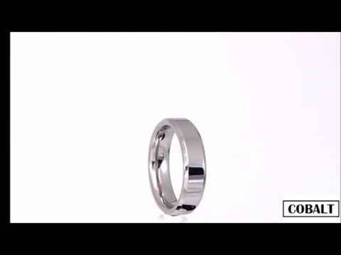 Men's 6mm Polished Chamfered Cobalt Wedding Ring