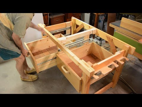 Rigid but disassembleable workbench