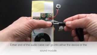 Push Button Activated Voice Musical Sound Chip