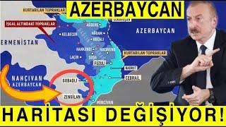 Azerbaycan Haritası Değişiyor Türkiye İle Kara Sınırı! İlham Aliyev Zengezur Bölgesi Son Durum...