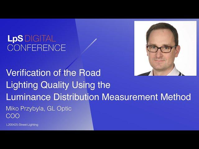 Verification of the Road Lighting Quality Using the Luminance Distribution Measurement Method