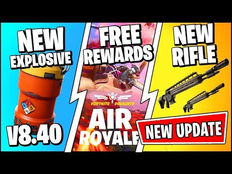 *NEW* Fortnite Update *RIGHT NOW* | ITEMS & AIR ROYALE CHALLENGES FREE REWARDS (Patch Notes V8.40)